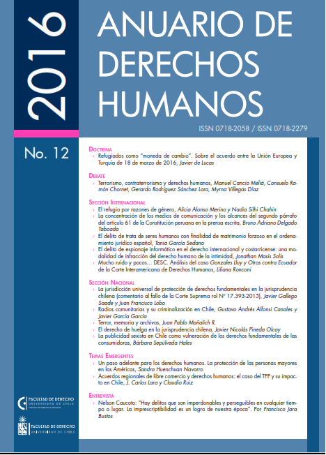 Anuario de Derechos Humanos